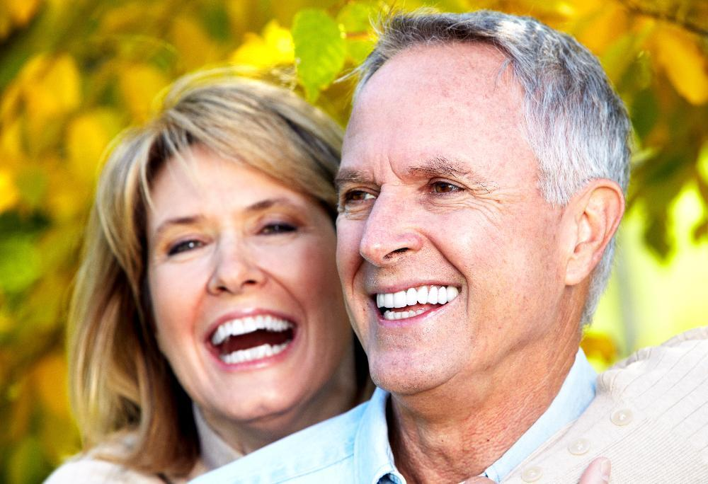 Dental Implants in Springfield | Couple Smiling