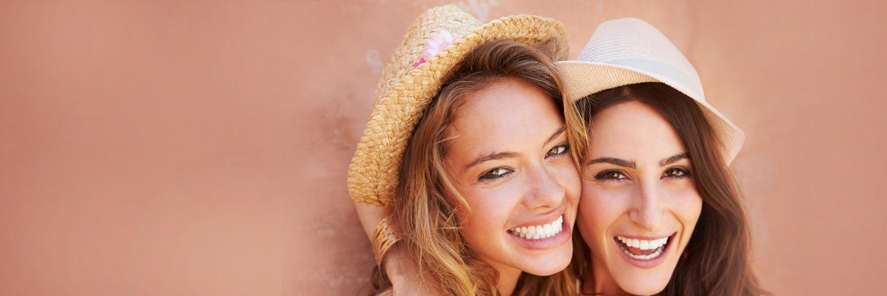 Woman with zoom teeth whitening in aurora il
