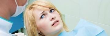 Woman afraid at the dentist | Springfield MO Emergency Dentist